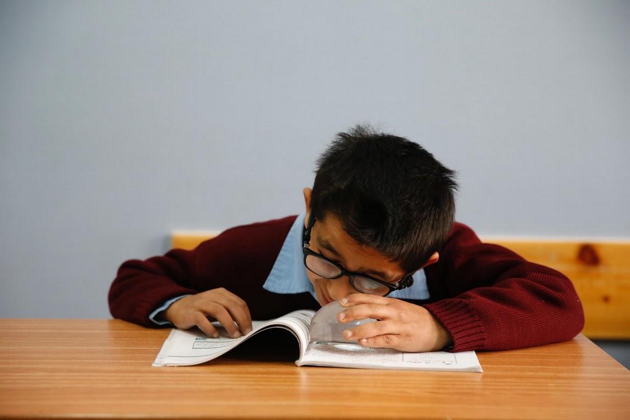 تحقیق نظریه ی در مورد دانش آموزان نابینا و نیمه بینا