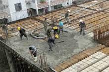 خاک برداری ، اجرای فنداسیون ، نصب صفحات زیر ستون ، ساخت تیر و ستون از ورق ، برپایی اسکلت فلزی ، اجرای سقف ساختمان با تیرچه و بلوک ( ساخت تیرچه ها در محل کارگاه )