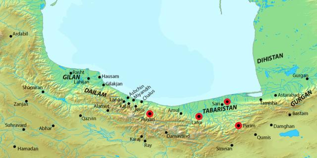 تحلیل و بررسی وضعیت داخلی حکومت باوندیان اسهبدیه، چگونگی روابط آنها با حکومت های همجوارترک