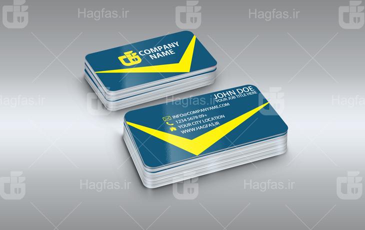 کارت ویزیت شرکتی لایه باز برای فتوشاپ با فرمت PSD