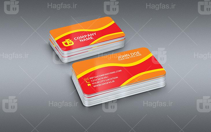 فایل لایه باز کارت ویزیت با رنگبندی متنوع برای فتوشاپ