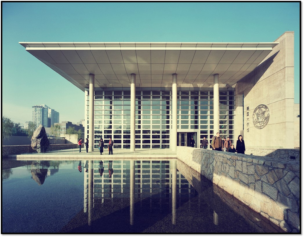 پاورپوینت تحلیل و بررسی مجموعه جدید سفارت آمریکا در پکن